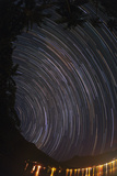 Time Lapse  Fisheye View of Earth's Rotation Revealed in Star Trails