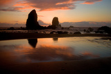 Sunset in Cannon Beach  Oregon