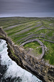 Atlantic Waves Crash on the Cliffs Beneath the Ancient Dun Aengus