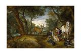 Saint Hubert's Vision  1617-1620  Flemish School