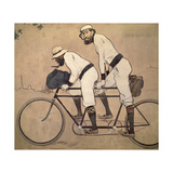 Ramon Casas And Father Romeu Riding a Tandem