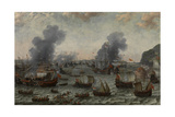 The Battle of Gibraltar  25 April 1607  Ca 1617  Dutch School