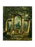 The Medici Gardens In Rome  Ca 1630  Spanish School