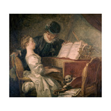 The Music Lesson  Ca 1770  French School