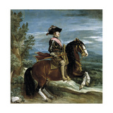 Philip Iv On Horseback  1634-1635  Spanish School