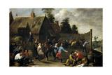 Fiesta Y Comida De Aldeanos  1637  Flemish School