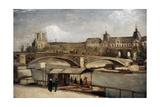 """ Pont Du Carrousel With Louvre"" 1886 Museo Carlsberg Glyptotek Copenhague Dinamarca"