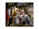 Moses Saved From the Waters'  1633  Italian School