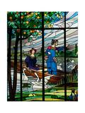 """Casa Domènech  Detalle del Triptico """"Damas De Cerdanyola"""" Modernismo  1910"""