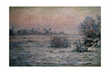 Snowy Landscape At Dusk  1879-1880