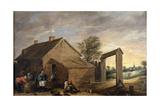 Villagers Conversing  1640-1650  Flemish School