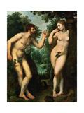 Adam And Eve  Ca 1597