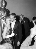 "30th Annual Academy Awards  1957 Joanne Woodward ""The Three Faces of Eve"" And Paul Newman"