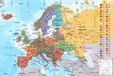 European Map Educational Poster
