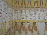 Egypt  Thebes  Luxor  Valley of the Kings  Mural Painting in Tomb of Ramses IV