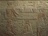 Egypt  Cairo  Ancient Memphis  Saqqara  Relief of Working Weavers