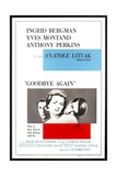 """Ingrid Bergman  Yves Montand and Anthony Perkins in """"Goodbye Again"""""""