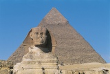Great Sphinx and Pyramid of Of Chefren