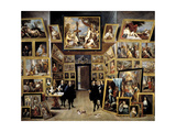 Archduke Leopoldo Guillermo At His Picture Gallery In Brussels  1647-1651  Flemish School