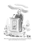 """Most of all  I want to thank the people of my district for their unflaggi…"" - Cartoon"