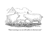 """They're assuring us we can still wallow in American mud"" - Cartoon"