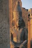 Obelisk and Colossal Statue of Ramses II at Great Temple of Amon