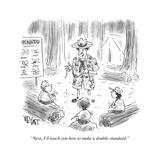 """Next  I'll teach you how to make a double standard"" - Cartoon"