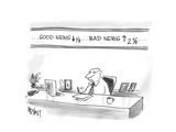 Good News down  Bad News up - Cartoon