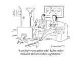 """I can forgive any athlete who's had to endure thousands of hours in those…"" - Cartoon"