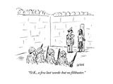 """OK  a few last words-but no filibuster"" - Cartoon"