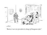 """""""Barnes is our vice-president in charge of Gangnam style"""" - Cartoon"""