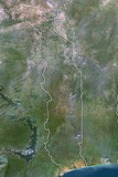 Togo  True Colour Satellite Image with Border