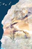 Satellite Image of Mauritania