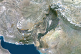 Satellite Image of Pakistan