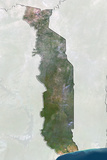 Togo  True Colour Satellite Image with Border and Mask