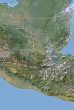 Guatemala  Satellite Image with Bump Effect  with Border