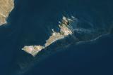 Satellite Image of Kerkennah Islands  Tunisia