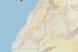 Western Sahara  Relief Map with Border