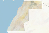 Western Sahara  Relief Map with Border and Mask
