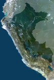 Satellite Image of Peru