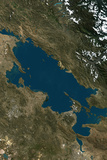 Satellite Image of Lake Titicaca  South America