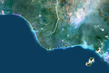 Satellite Image of Niger River Delta  Nigeria