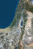 Israel  True Colour Satellite Image with Border