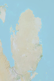 Qatar  Relief Map with Border