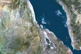 Eritrea  True Colour Satellite Image with Border
