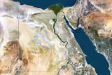 Egypt  True Colour Satellite Image with Border