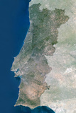 Satellite Image of Portugal