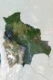 Bolivia  True Colour Satellite Image with Border and Mask