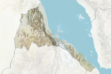 Eritrea  Relief Map with Border and Mask