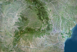 Romania  True Colour Satellite Image with Border